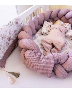 Kokon 2w1 + koc + poduszka Magnolie Warkocz Premium