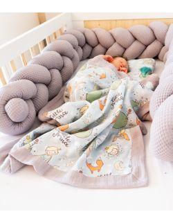 Kokon 2w1 Mały Ksieżę Warkocz Premium Gniazdko niemowlęce