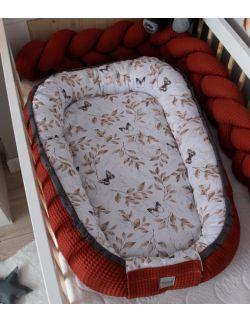 Kokon niemowlęcy Wafel Motyle Premium