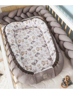 Kokon niemowlęcy Wafel Mini Zebra Premium