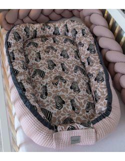 Kokon niemowlęcy Wafel Zebra seria Safari