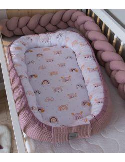 Kokon niemowlęcy Wafel Tęcza różowa