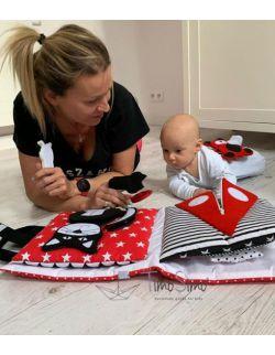 TimoSimo Książeczka sensoryczna Quiet Book dla niemowlaka 0+