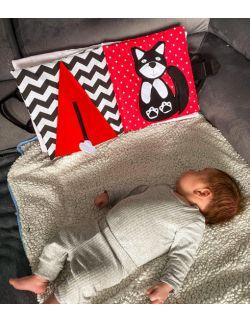 TimoSimo Książeczka książka sensoryczna dla niemowlaka 0+