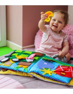 TimoSimo Książeczka książka sensoryczna dla dziecka 1+