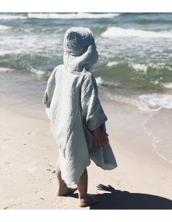 Muślinowy ręcznik ponczo - pistacjowy