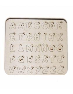 Drewniany alfabet - puzzle edukacyjne M