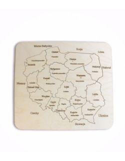 Mapa Polski- drewniane puzzle S