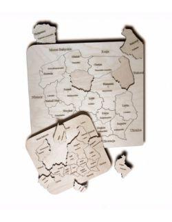 Mapa Polski- drewniane puzzle M