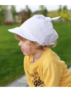 lniana chustka z daszkiem dla dzieci i niemowląt