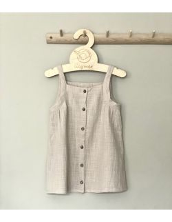 Sukienka muślinowa/muślin lniany beżowa