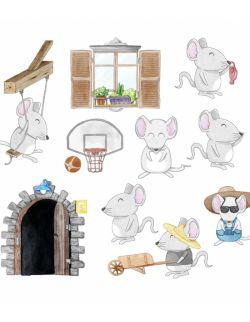 Naklejki Little Mice 37x32 cm