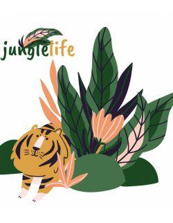 Naklejka załóżkownik Jungle Life lion