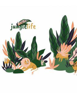 Zestaw naklejek Jungle Life