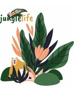Naklejka załóżkownik Jungle Life monkey