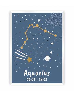 Obrazek Zodiac Aquarius 30 x 40