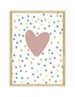 Obrazel Lovely Unicorn heart 30 x 40