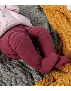 rajstopy niemowlęce - bordo