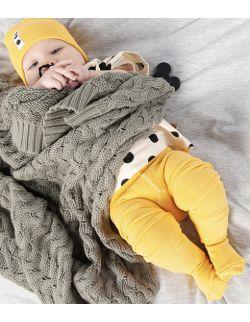 rajstopy niemowlęce - żółte