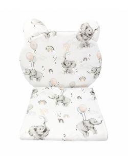 Komplet do wózka/gondoli z poduszką miś Happy elephant
