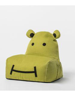 siedzisko puf Hippo limonkowy
