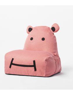 siedzisko puf Hippo różowy