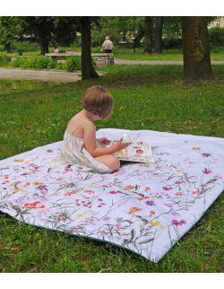 Koc piknikowy w plecaku Flower Garden