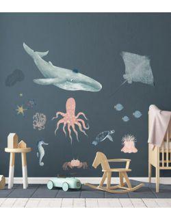 Naklejki ścienne - zwierzęta morskie