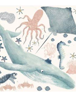 27 naklejek ściennych zwierzęta morskie XL