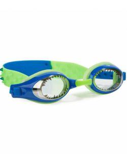Okulary do pływania Aqua2ude, Royal Blue Shark with Teeth, Żarłacz błękitny, Bling2o