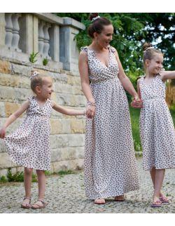 letnie sukienki dla mamy i córki z ramiączkami - BERRIES