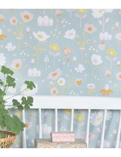 Tapeta dla dzieci w kwiaty Majvillan 1,2,3,4