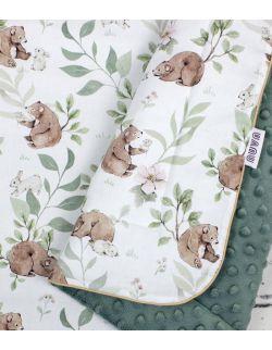 Kocyk Bear and Bunny 100×135 z wypełnieniem
