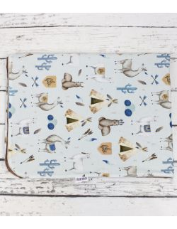 Kocyk Lama Niebieska 100×135 z wypełnieniem