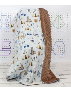 Kocyk Lama Niebieska 75×100 z wypełnieniem