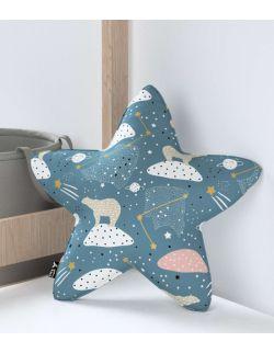 Poduszka Lucky Star niebieska