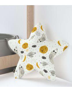 Poduszka Lucky Star szaro-biała