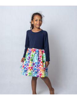 Sukienka-długi rękaw- SERCA
