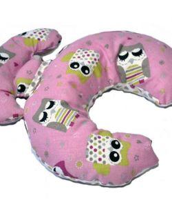 Poduszka podróżna rogal pink Owls