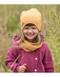 Dziecięca czapka i komin wiosenno jesienna- karmel