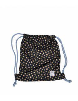 Leopard – bawełniany worek/plecak dla przedszkolaka Black
