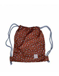 Leopard – bawełniany worek/plecak dla przedszkolaka Red