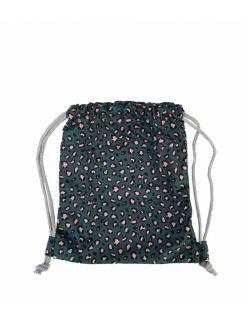 Leopard – bawełniany worek/plecak dla przedszkolaka Green