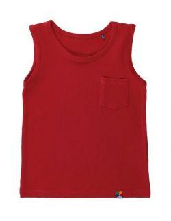 T-SHIRT BEZ RĘKAWÓW - czerwony
