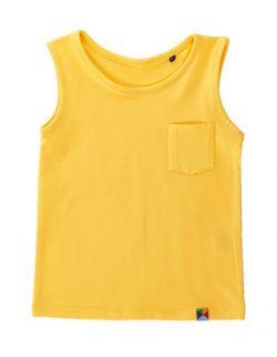 T-SHIRT BEZ RĘKAWÓW - żółty
