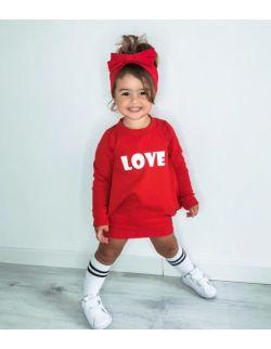 Bluzosukienka Sporty czerwona LOVE