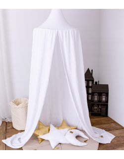 Muślinowy baldachim - biały