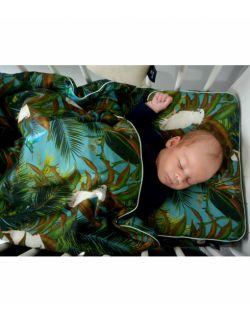 Bawełniana Pościel Z Wypełnieniem Mint Tropical 75x100cm