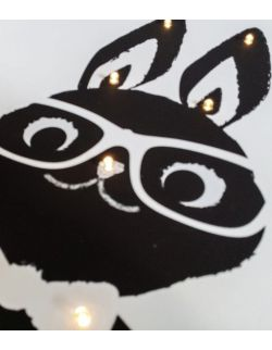 ŚWIECĄCY PAN KRÓLIK - lampa obraz prezent dla dziecka