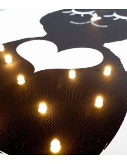 ŚWIECĄCY obraz PANI KRÓLIK - lampa obraz prezent dla dziecka